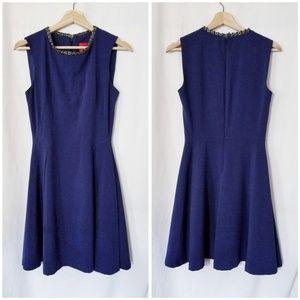 Z Spoke by Zac Posen Fit and Flare Navy Dress